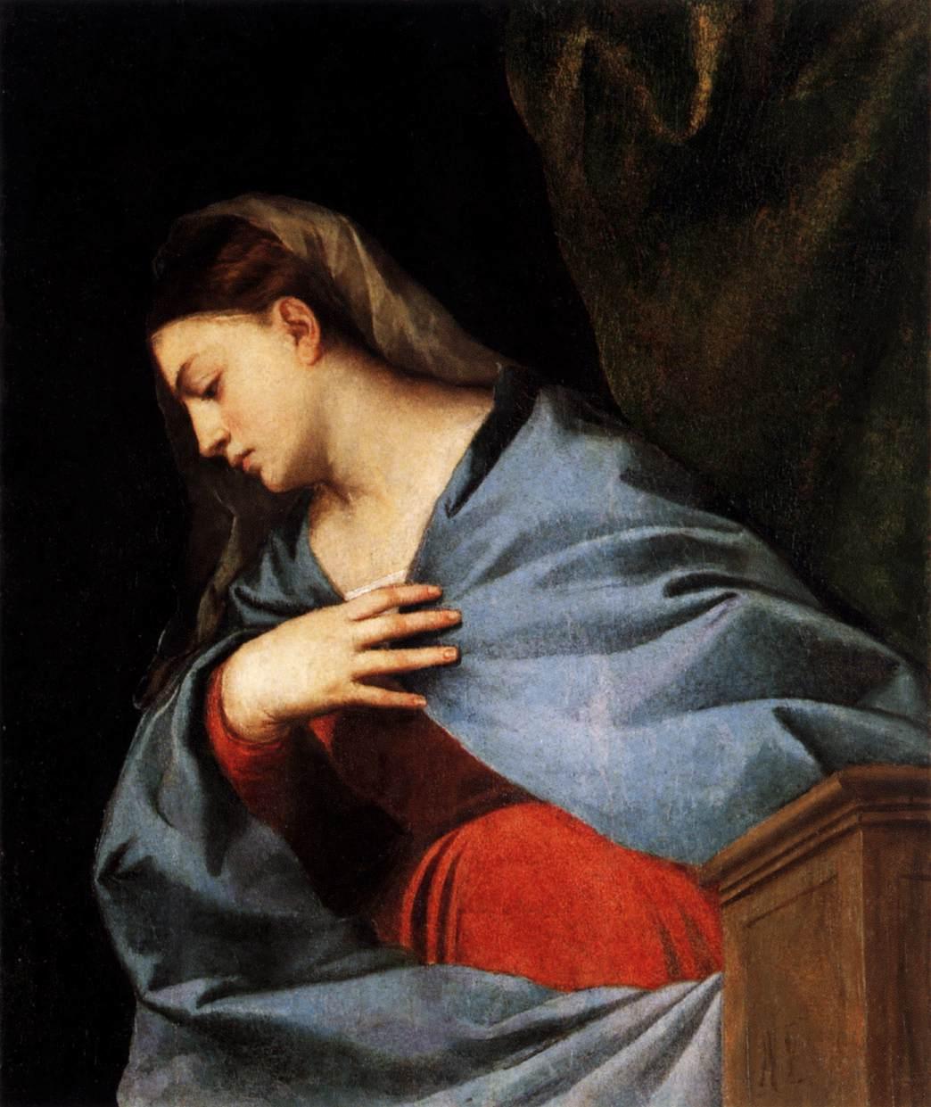 Девушка в голубом покрывале. Благовещение Девы Марии. Картины ...